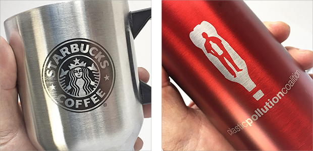 stainless water bottle laser etching