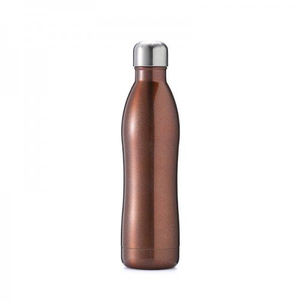 blue metal water bottle