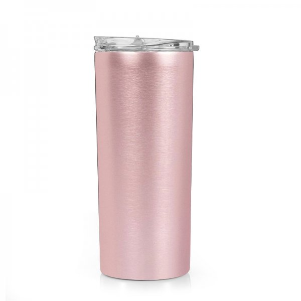rose gold stainless steel tumbler