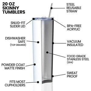 skinny tumbler bulk