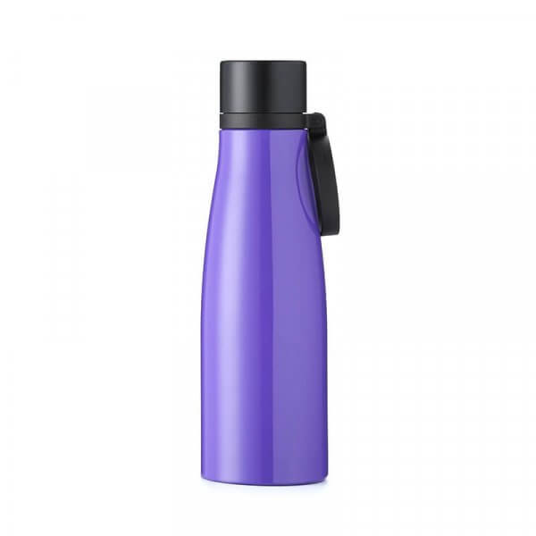 purple stainless steel water bottle