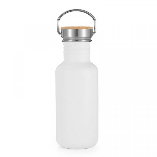 white stainless steel water bottle 4