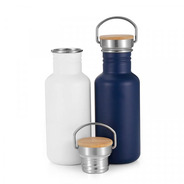 white stainless steel water bottle 6