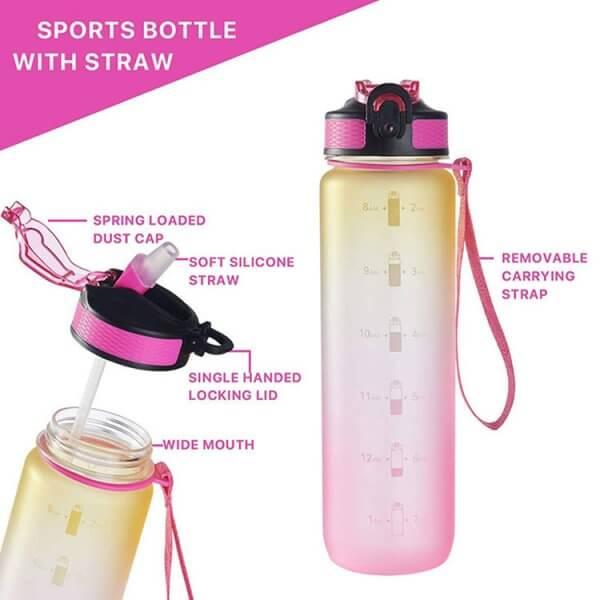 plastic sports water bottles