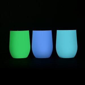 fluorescent wine tumblers