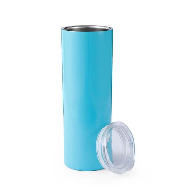 Stainless Steel Skinny Blank Blue Tumblers